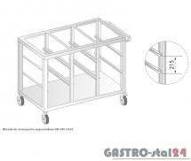 Wózek do transportu pojemników 1/1GN DM 3421 szerokość: 665 mm  (1240x665x850)