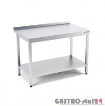 Stół przyścienny z półką wym. 1200x600x850