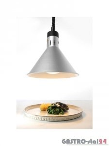 Lampa do podgrzewania potraw wisząca - srebrna