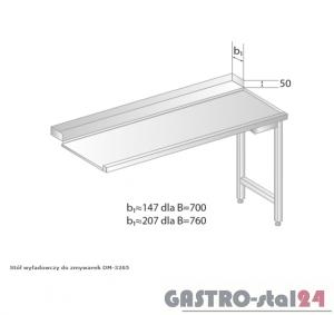 Stół wyładowczy do zmywarek DM 3265 szerokość: 700 mm  (600x700x850)