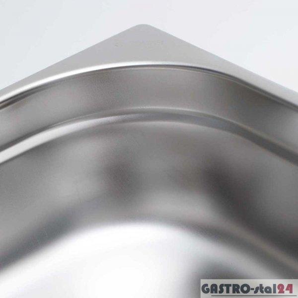 Pojemnik ze stali nierdzewnej GN 1/9 wym. 176x108  (H=65 mm)
