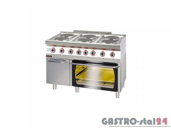 Kuchnia elektryczna z piekarnikiem elektrycznym 700.KE-6/PE-3 1200x700x900