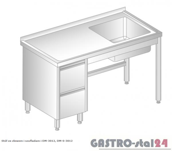Stół ze zlewem i szufladami DM 3012 szerokość: 600 mm  (1000x600x850)