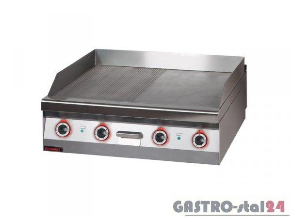 Płyta beztłuszczowego smażenia el. 1/2 gł.+1/2 ryf. 900.PBE-900GR, 900x900x280