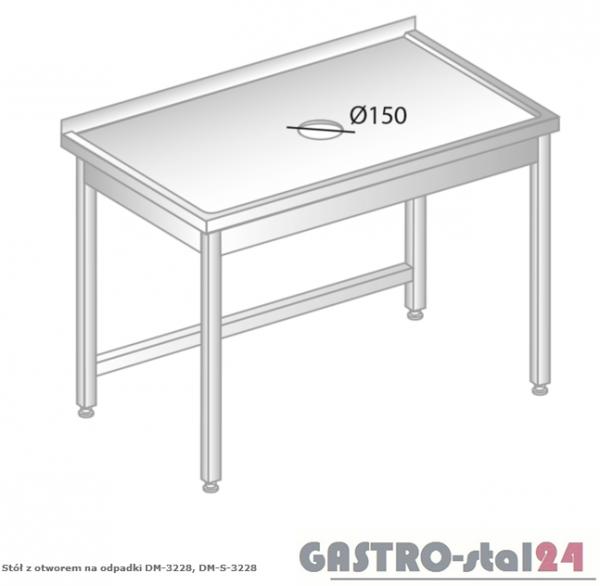Stół z otworem na odpadki DM 3228 szerokość: 600 mm (800x600x850)