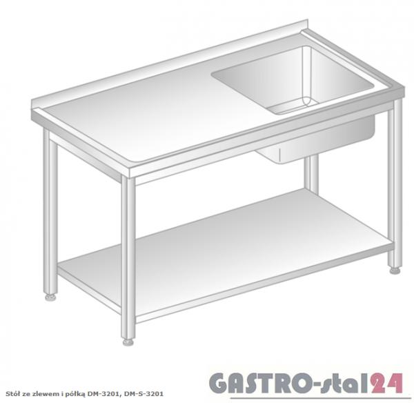 Stół ze zlewem i półką DM 3201 szerokość: 700 mm (600x700x850)