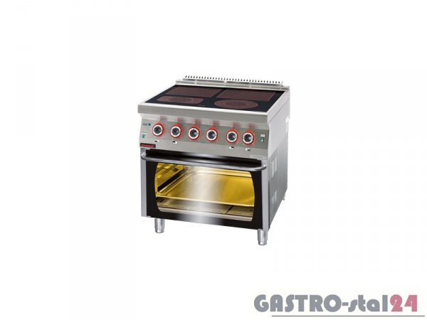 Kuchnia elektryczna ceramiczna z piekarnikiem elektrycznym 700.KE-4C/PE-2, 800x700x900