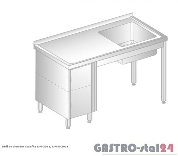 Stół ze zlewem i szafką DM 3011 szerokość: 700 mm (1000x700x850)