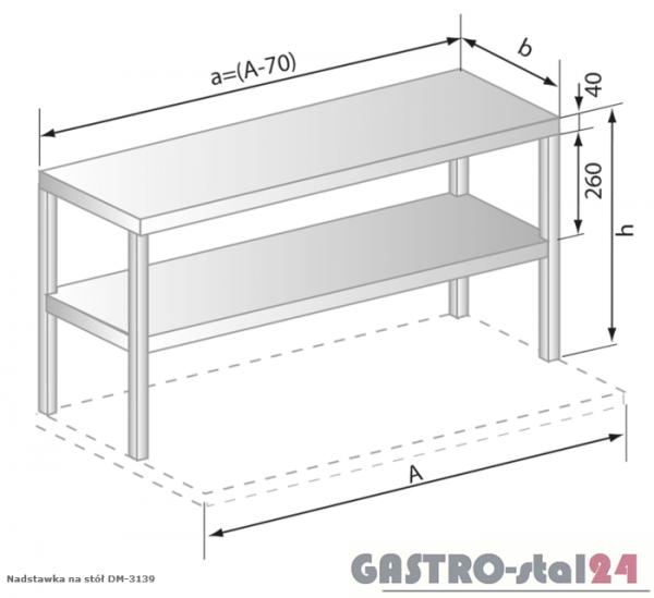 Nadstawki na stół DM 3139 szerokość: 400 mm (530x400x600)