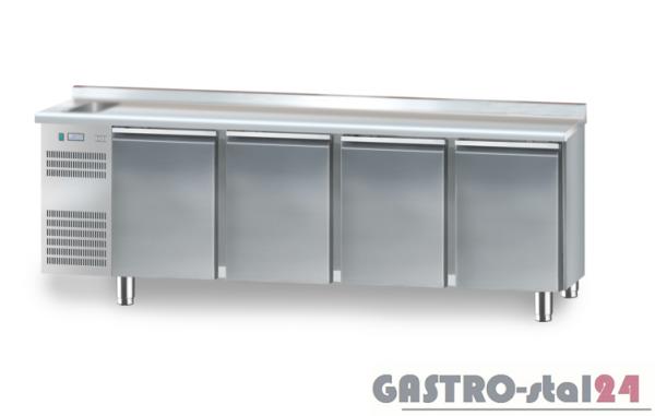 Stół chłodniczy ze zlewozmywakiem z płytą wierzchnia nierdzewną DM 91004 2325x700x850