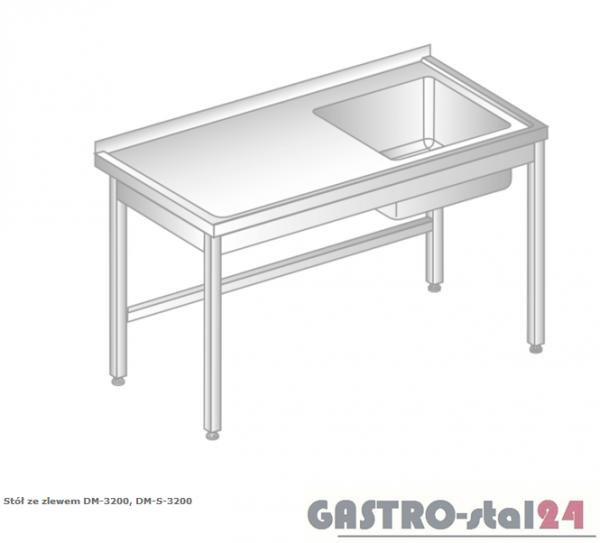 Stół ze zlewem DM 3200 szerokość: 600 mm (600x600x850)
