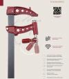 Ścisk stolarski Maxipress F Piher 40cm 9kN P60040 35x8mm