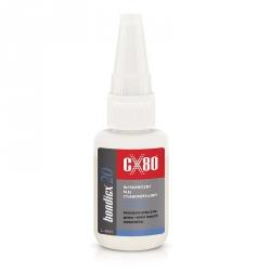 Klej etylocyjanoakrylowy do tworzyw sztucznych CX80 BONDICX 20  20g