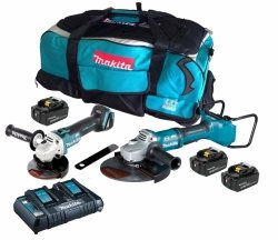 Zestaw combo Makita DLX2245PT1 DGA900 + DGA506 18v 3x5.0Ah
