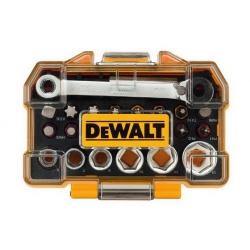 Zestaw bitów, nasadek z grzechotką DeWALT DT71516 -24 elementy