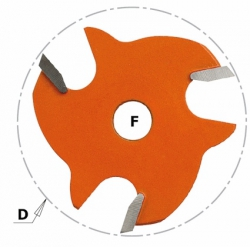 Frez/Ostrze CMT 822.330.11 HM I=3 D=47,6 F=8