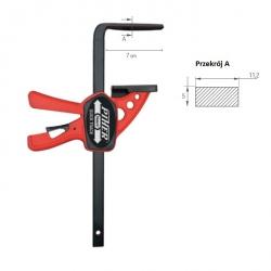 Ścisk stołowy PIHER QUICK T-Track 22 cm do szyny/listwy prowadzącej P52103