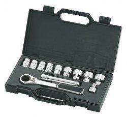Zestaw 12-częściowy kluczy nasadowych przelotowych PASS-THRU 1/2 SATA 09133