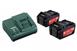 Zestaw zasilający Metabo 2 x 5,2 Ah Akumulator + ładowarka ASC 30-36 V