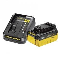Zestaw zasilający ładowarka + akumulator 4.0Ah 18V Stanley FMC694M1
