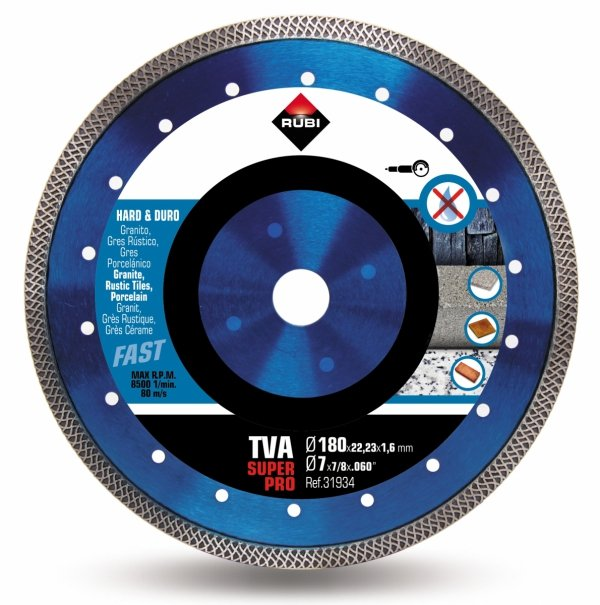 Rubi TVA 180 SUPERPRO (31934), Tarcza diamentowa do materiałów twardych