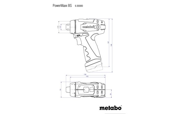 Wkrętarka Metabo POWERMAXX BS BASIC 600984500 12V MetaBox