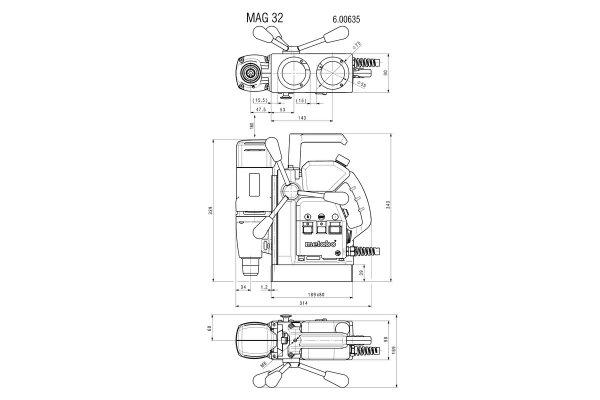 Wiertnica rdzeniowa Metabo MAG 32, 600635500