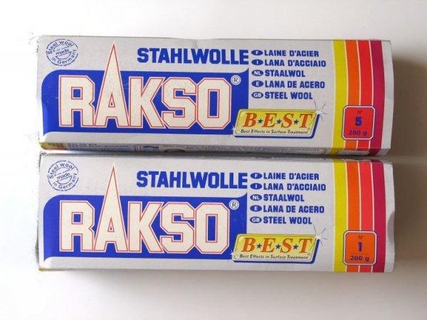 Wełna stalowa Stahlwolle RAKSO 200g granulacja 1
