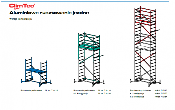 Rusztowanie aluminiowe Krause ClimTec 7,0m 710154