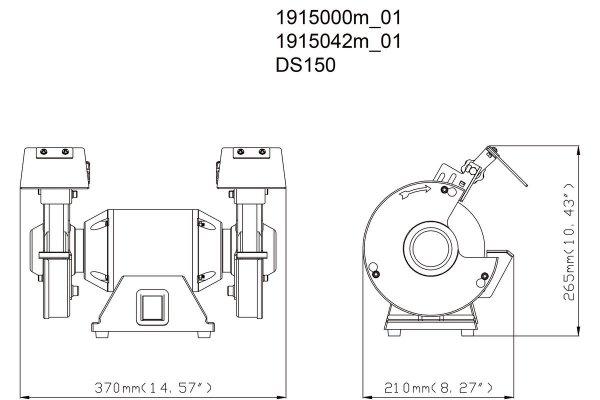 Szlifierka stołowa Metabo DS150 619150000