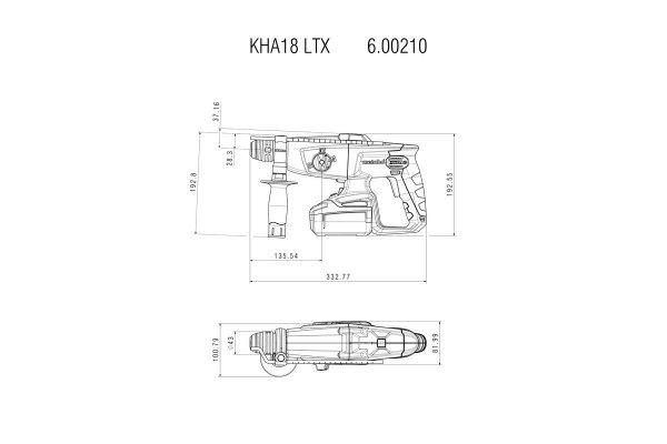 Młotowiertarka akumulatorowa Metabo KHA 18 LTX 18V MetaLoc 600210840