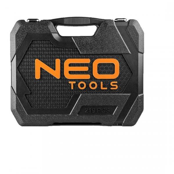 """Zestaw kluczy nasadowych NEO 08-671    CrV 219 szt. 1/2"""", 3/8"""", 1/4"""""""