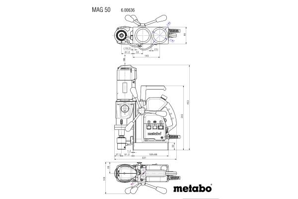 Wiertnica rdzeniowa Metabo MAG 50, 600636500