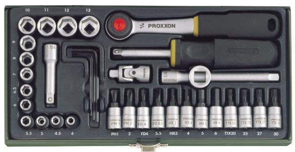 Zestaw narzędziowy Proxxon 1/4 36cz. do mechaniki precyzyjnej PRK 23080