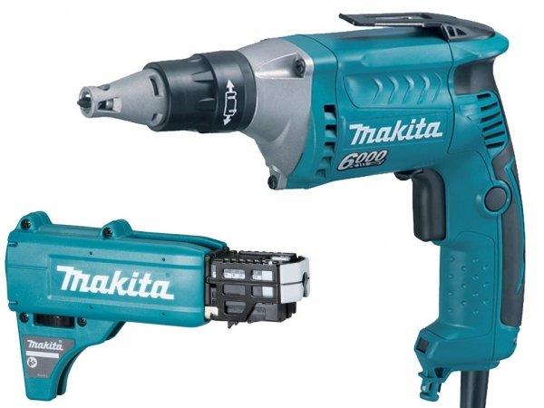 Wkrętarka ze sprzęgłem Makita FS6300X2 570 W + Przystawka do taśm