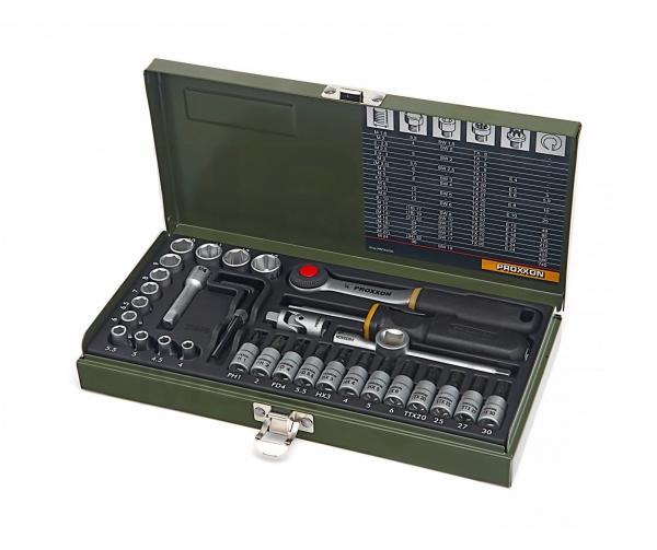 """Zestaw narzędziowy Proxxon 1/4"""" 36cz. do mechaniki precyzyjnej PRK 23080"""