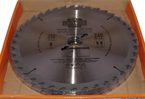 Piła tarczowa CMT K25040M-X05  D=250 K=2,6/1,8 F=30 Z=40 ATB