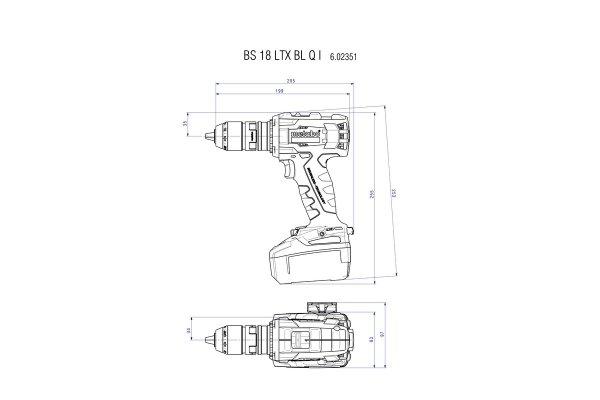Wiertarko-wkrętarka akumulatorowa Metabo BS 18 LTX BL Q Impuls, 2x 5.2Ah 18 V 602359650