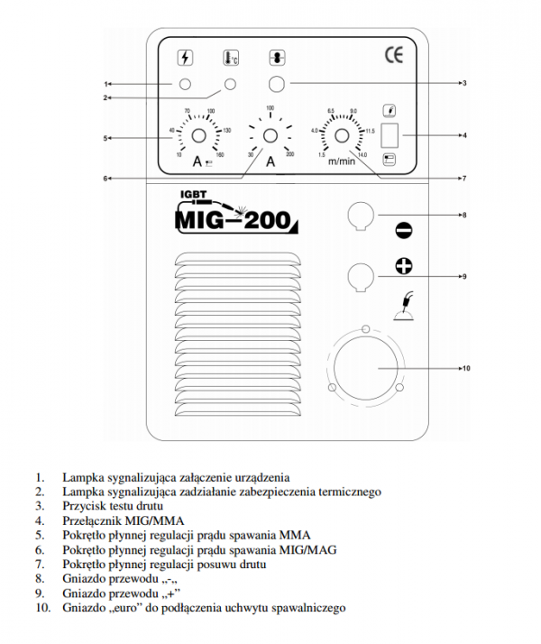 Spawarka inwertorowa MAGNUM MIG 200 MMA IGBT 200A/230V