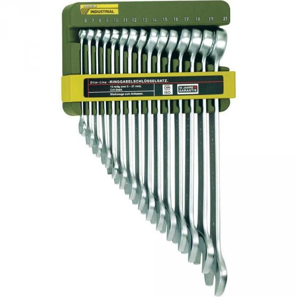 Zestaw 15 kluczy płasko-oczkowych Proxxon 6-21 PR23821