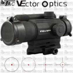 VECTOR SCRD-07 Tempest 1x35 Tactical Milspec 4 Reticle Red Dot Reflex Sight Scope