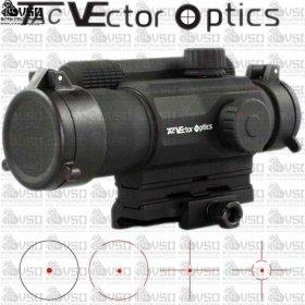 VECTOR SCRD-07 Tempest 1x35 Tactical Milspec 4 Reticle Red Dot Reflex Sight Scope