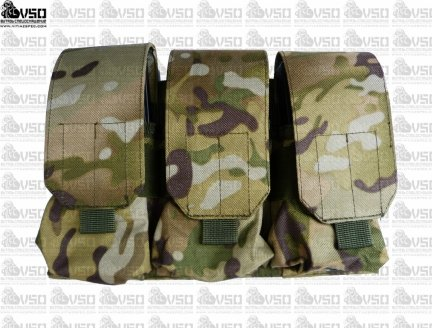 Tactical Army - Potrójna ładownica na 6 magazynków M4/M16 - Multicam