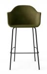 Menu HARBOUR Krzesło Barowe 112 cm Hoker Czarny - Siedzisko Tapicerowane Zielone