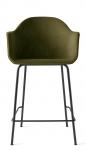 Menu HARBOUR Krzesło Barowe 102 cm Hoker Czarny - Siedzisko Tapicerowane Zielone