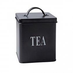 Villa Collection BOX Pojemnik - Puszka do Przechowywania Herbaty - Czarna