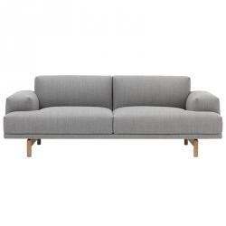 Muuto COMPOSE Sofa 2-Osobowa - Szara (Fiord 151)