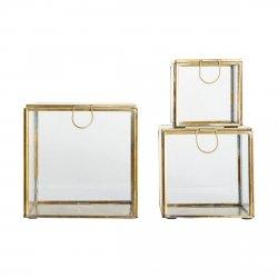 House Doctor STORAGE Zestaw 3 Pojemników Dekoracyjnych - Odcień Złoty
