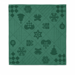 Rosendahl NATALE Serwetki Świąteczne 45x45 cm 4 Szt. Zielone