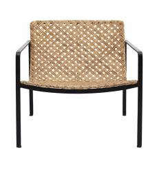 House Doctor HABRA Krzesło z Rattanowym Siedziskiem i Oparciem - Naturalne